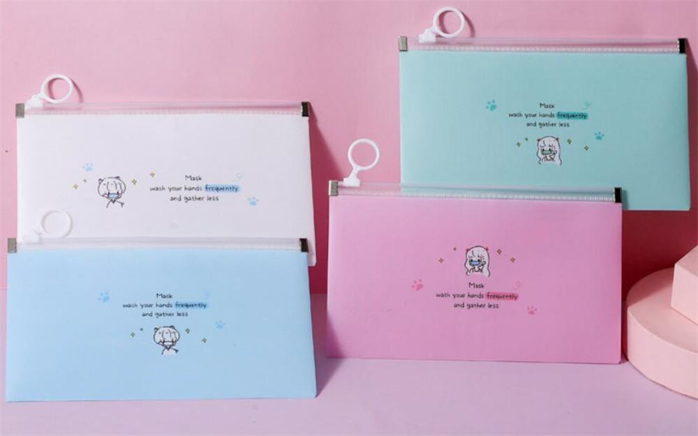 Maschera di archiviazione Caso Box Scatole della mascherina del sacchetto della copertura del portatile Facemask Holder Viso
