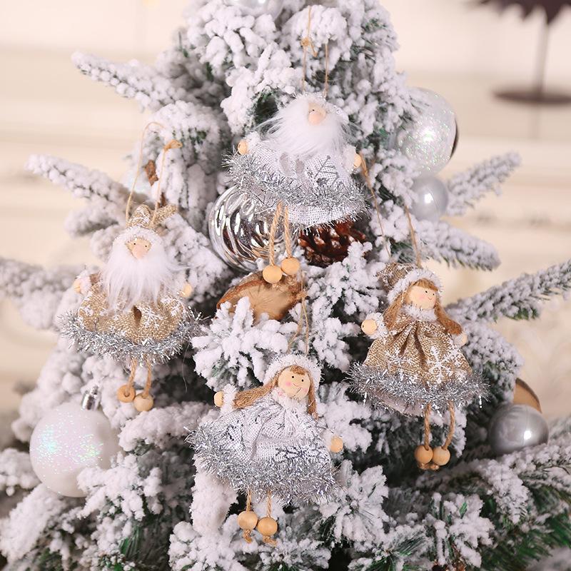 Decoración de navidad árbol decoraciones de Navidad Adornos Ángel muñecas Kerst Natal decoración para el hogar Año Nuevo 2020 regalo de los niños