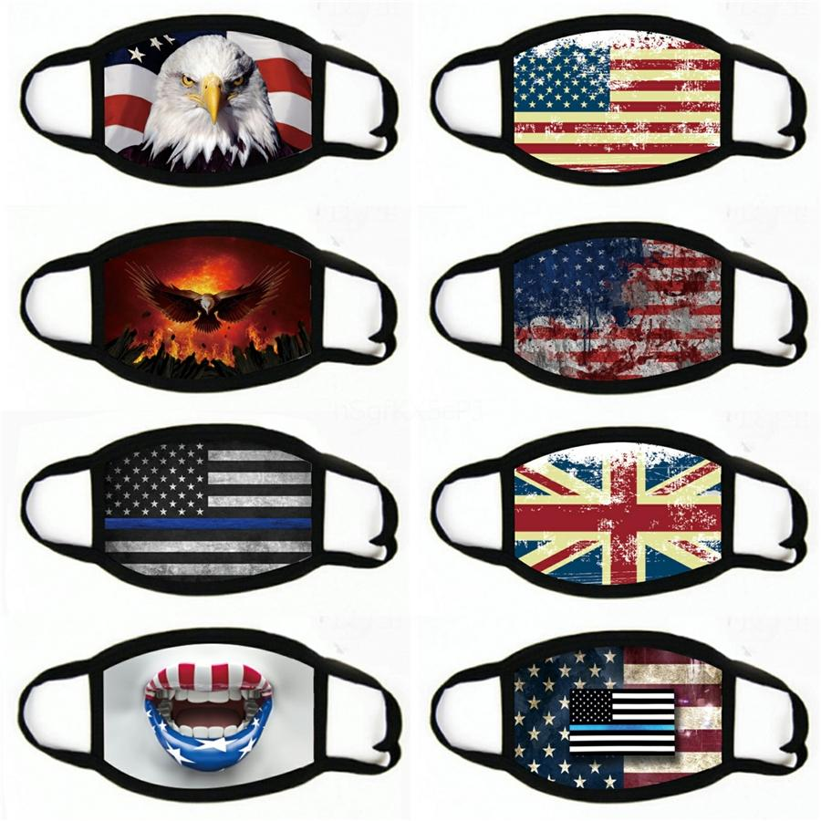 Réutilisable Masque 2020 américain Élection Fournitures Mode Tendance étanche à la poussière Visage Masque Masques respirant Lavable Drapeau Etats-Unis # 698