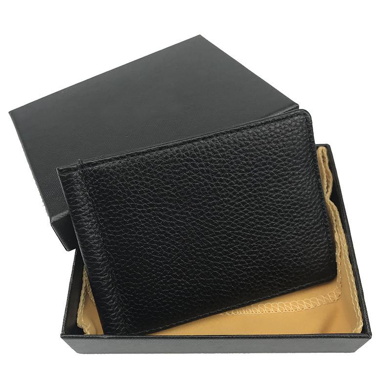 Держатель для кредитных карт мужской кошельки для кредитных карт Черная короткая карта держатель высочайшего качества кожаный портфолио карманные моды кошельки кошельки