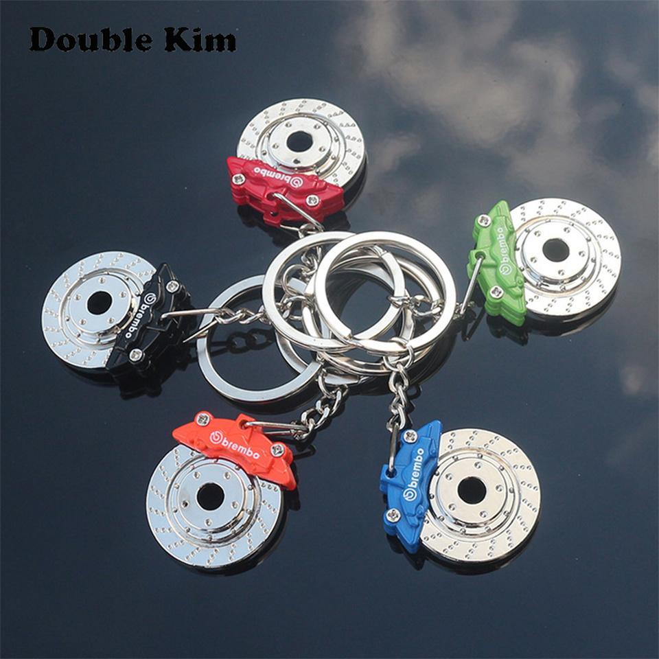 Yaratıcı Fren Disk Tekerlek Kumpas KeyChain Araç Disk Fren Anahtarlık Paslanmaz Çelik Erkekler ve Kadınlar Bel Anahtarlık Zinciri kolye