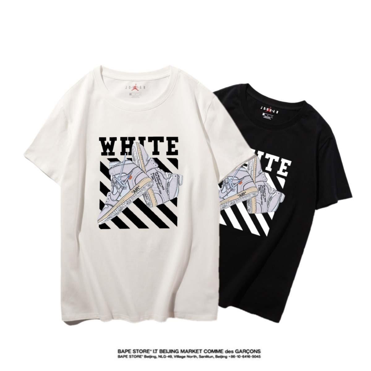 Jordan Hohe Qualität Neuer Brief Printing Short Sleeve Mode Aufmaß Cotton Hip Hop-Männer Frauen Paar Designer-T-Shirt S-XXL # 35678