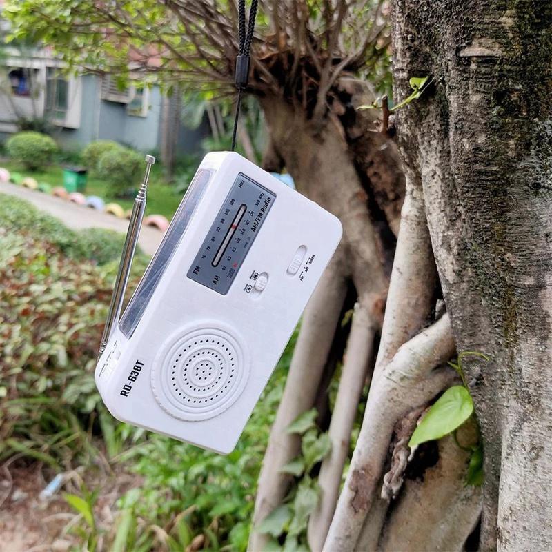 Múltiplo Uso Solar ou Rádio Geração de Energia por Mão FM com carregador de emergência 1LED USB