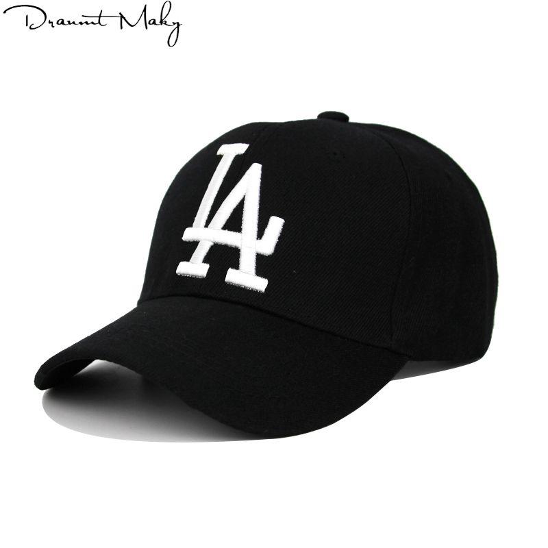 새로운 패션 LA 야구 CAPSEMBROIGERY 힙합 뼈 스냅 백 모자 남성 여성용 조절 Gorras 유니섹스 모자 도매