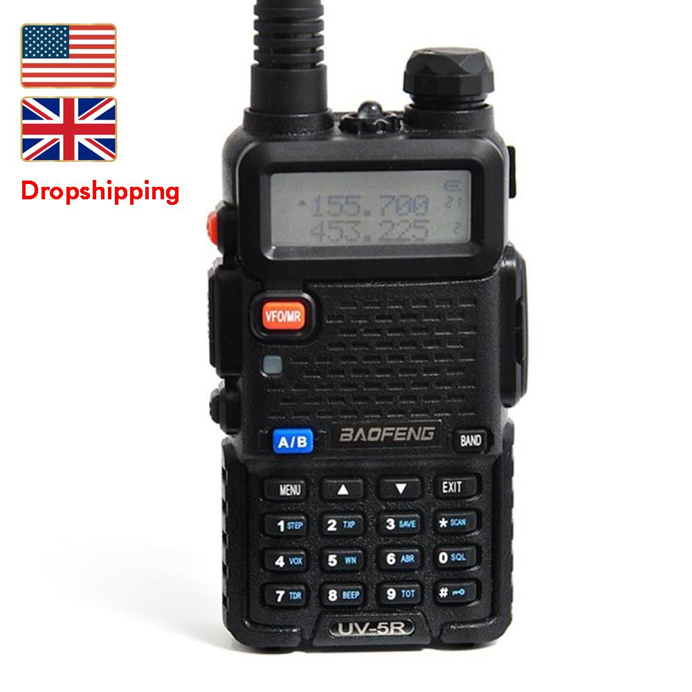 Stock in US UK Baofeng UV-5R Walkie Talkie Drop Tragbare Analog Zweiwegradio Hand UHF / VHF Amateur Long Range Transceiver