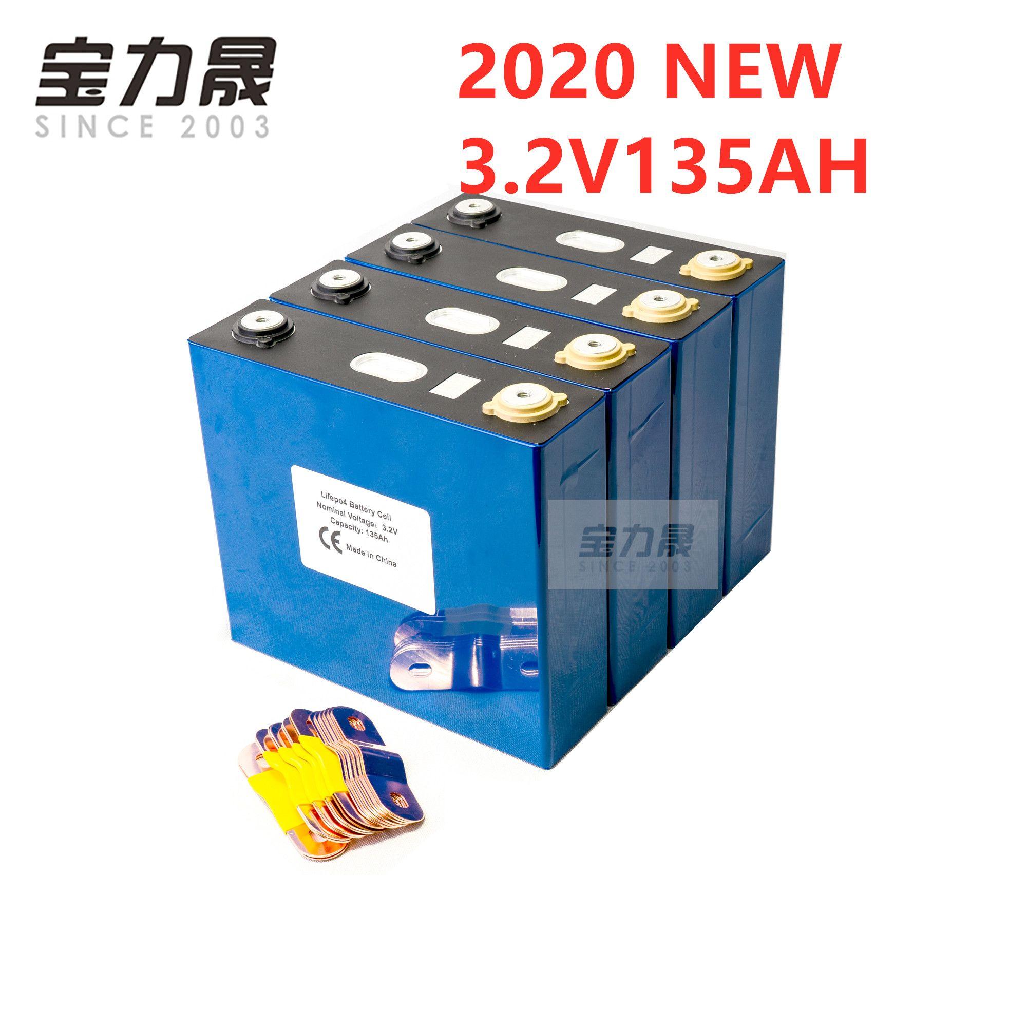 Şarj edilebilir pil Lityum Demir Fosfat Hücre 24V 12V hücreleri değil 150Ah AB ABD TAX FREE lifepo4 Sınıf A 4PCS 3,2V 120AH 135AH