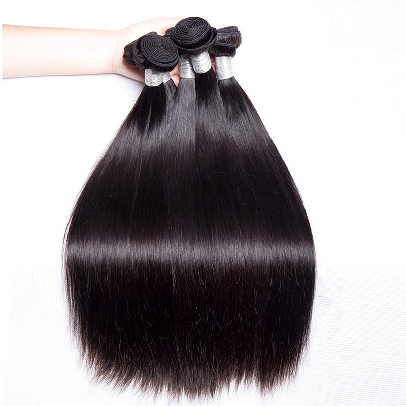 Wholesale 9A Brazilian Virgin Remy Human Hair Bundles Silk Straight 3 4 5 10 Bundles On Sale Cuticle Aligned Virgin Hair Cut From One Donor