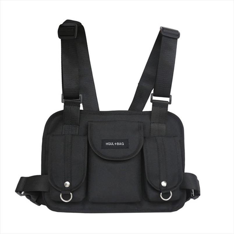 Мужчины упаковывают плечевые рисунки хмель прохладный стиль унисекс бедро функциональный тактический кошелек против кражи сумка сундук талии Punck Streetwear рюкзак DSLHV
