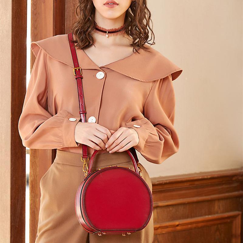 cuoio reale spalla delle donne di alta qualità Donne Messenger Bag nuove signore di modo della borsa del partito delle signore borsetta