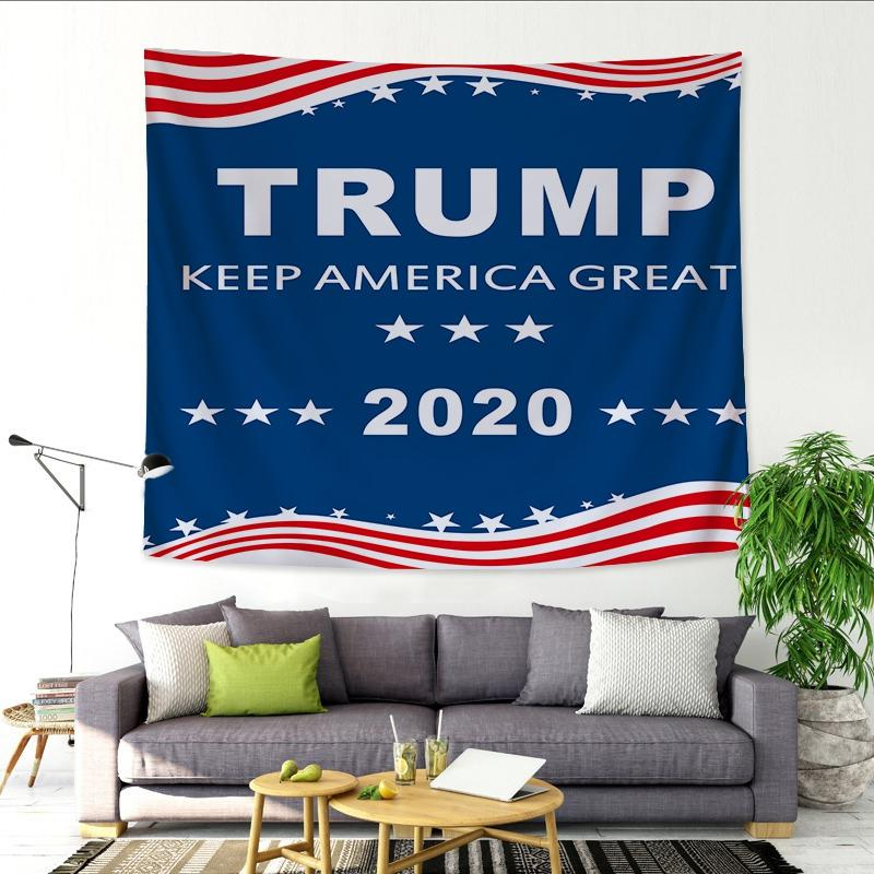 2020 US Trump Presidential Election Tapestry Art Wall Hanging Sofa Table Bed Cover Mural Beach Blanket Home Dorm Room Decor Gift