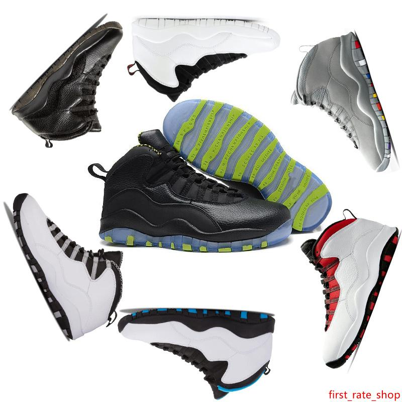 2019 New zapatillas Tinker 10 Basketball-Schuhe 10s Männer O Schwarz Weiß Westbrook Im Zurück Chicago Cement Trainer Sports Mensentwerfer Turnschuhe