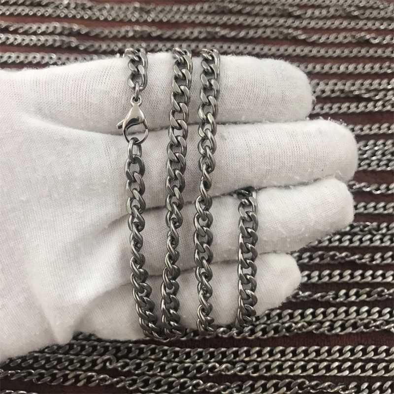 5,5 мм Элегантный, современный и простой Titanium цепи ожерелье Нет никеля для чувствительной кожи
