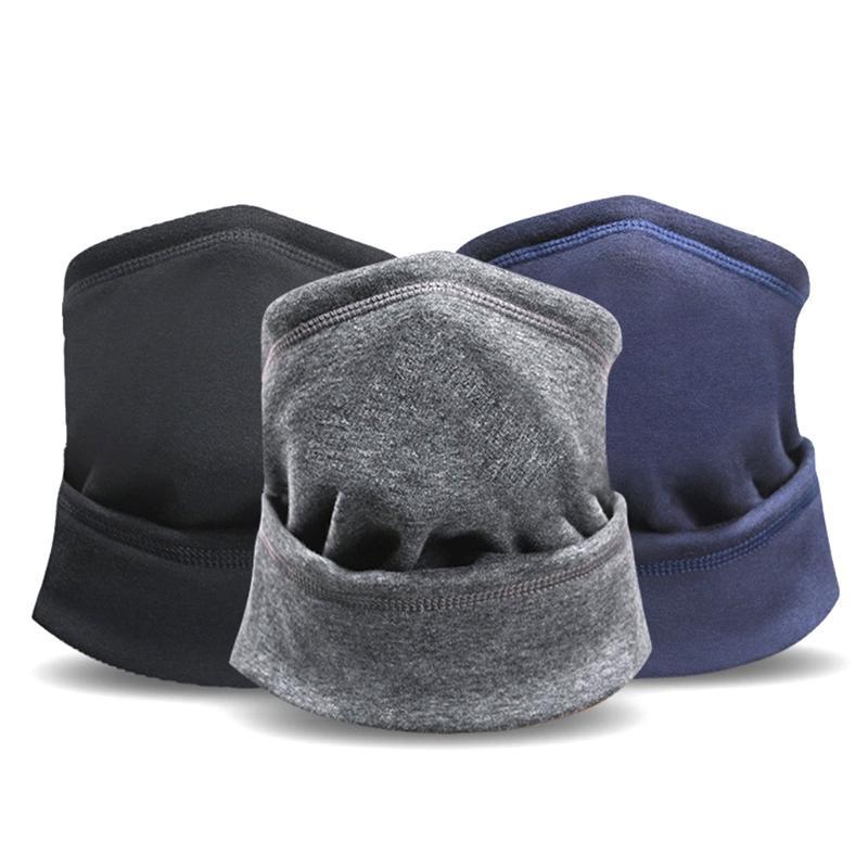 Hiver chaud Neck Gaiter Masque double couche en peluche coupe-vent Foulard Bonnet