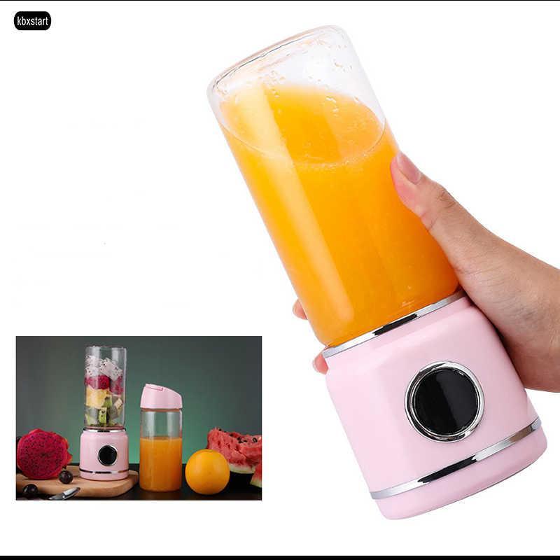 420ml USB ricaricabile Blender Mixer portatile Mini Juicer Smoothie della macchina del creatore della famiglia Piccolo Juice Extractor Con tazza di vetro DHL shi