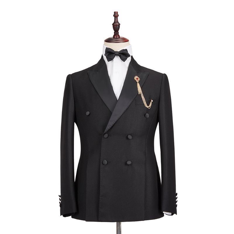 2020 Мужские костюмы высокого качества Slim Fit Остроконечные отворотом Свадебные смокинги Пром Man New Designs (Blazer + брюки + жилет) constume Homme