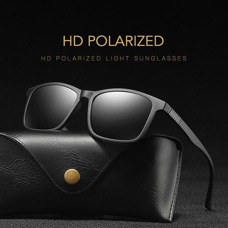 Occhiali da sole occhiali polarizzati oculos maschile uomo nero maschio occhiali da vista rettangolo tonalità guida quadrato vintage anti-uv uomini tkmjo