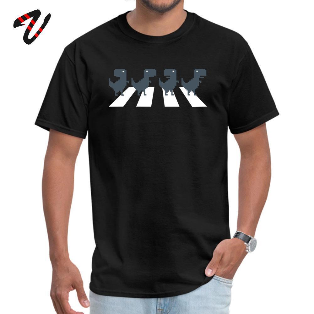 Abbey Lane Мужчины футболки Пешеходный Abbey Rex Hip Hop Tshirt Лето Хлопок Одежда T-рекс Динозавр тройники День отца Оптовые Вершины