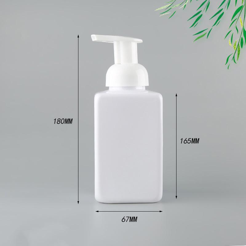 450ml Hand Sanitizer plastic Bottle Square Foam Pump Bottle for Face Cleansing Hot sale (Free Fast Sea shipping) BED3188