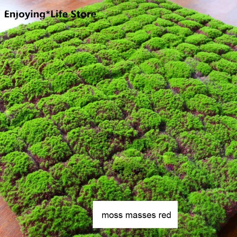 1m Simulation Green Plant Wall Moss Turf Моделирование Lawn Поддельные трава Сцена Магазин Окно дисплея Поддельные мессы Мосс Искусственный Газон
