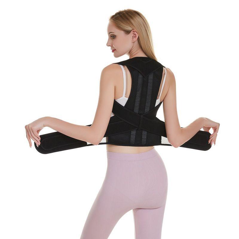Torna Vita del correttore di posizione regolabile Adulto Uomini Correction Cintura Donne spalla lombare Brace Cintura di sostegno della colonna vertebrale