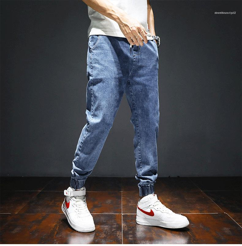 Sports Youth Student Overalls Spring Summer Fashion Casual Trousers Mens Jeans Slim Pencil Pants Mens Pants