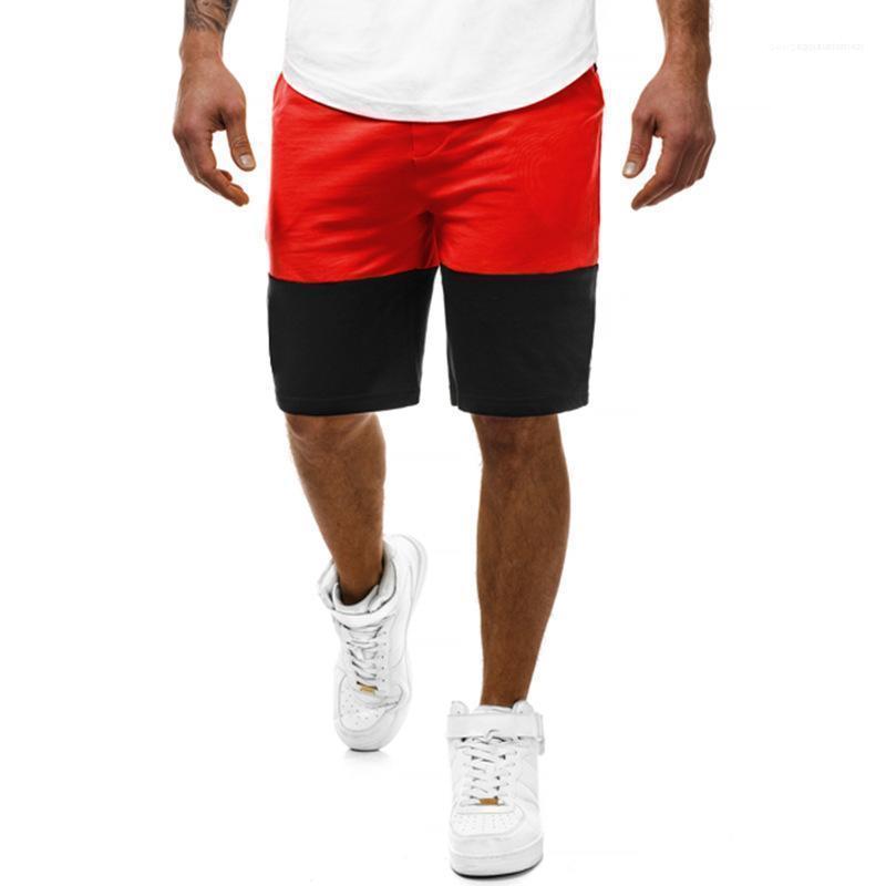 السراويل الألوان المرقعة مصمم رياضي الركض السراويل نصف طول الصيف للرجال الرياضة