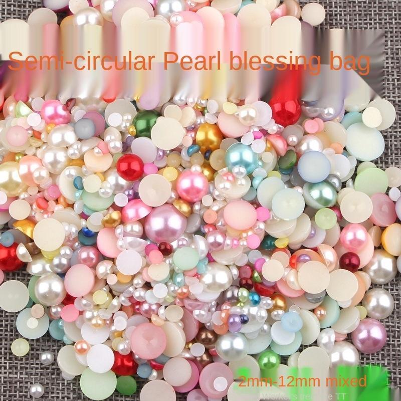 3COuK Semi-tutto fortunato borsa semi-imitazione lato perla diy chiodo diy perla cellulare guscio sacchetto materiale
