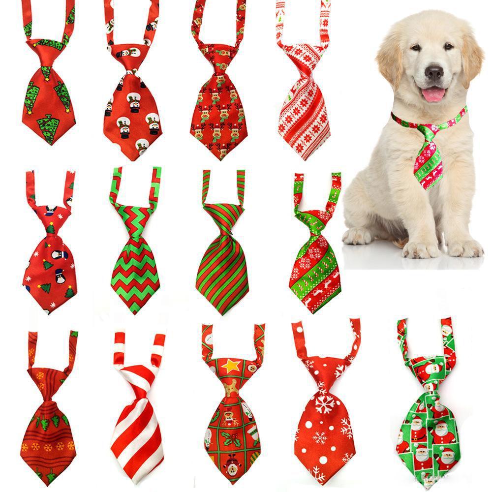 Cat Dog Grooming Striped Bow Tie animal listrado Bowtie Collar Natal Pet pescoço ajustável laço para Festival Partido XD22634 casamento
