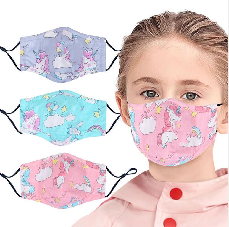 vente chaude Masque Enfants Enfants Mode Protection du visage bouche lavable réutilisable imprimé unisexe DHL