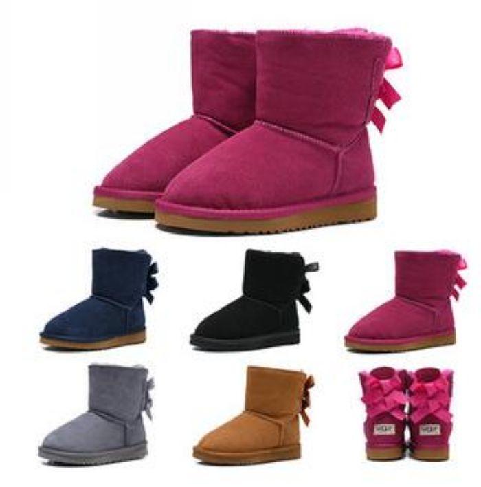 Prezzo basso Scarpe Bambini Snow Boots invernali Boots Pelle per i bambini Scarpe calzature del bambino dei bambini di marca del progettista Botas pour enfants # 66