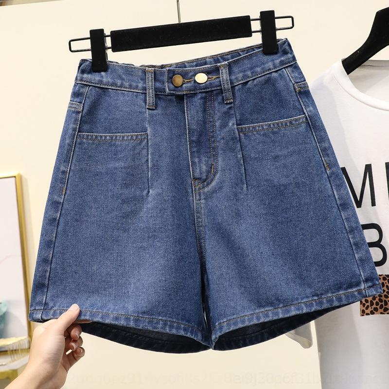 i pantaloni di formato caldo 2jJPq casuale 2020 pantaloni di estate e jeans Hot ampia nuovo A- a forma di jeans di grasso gamba MM coreano