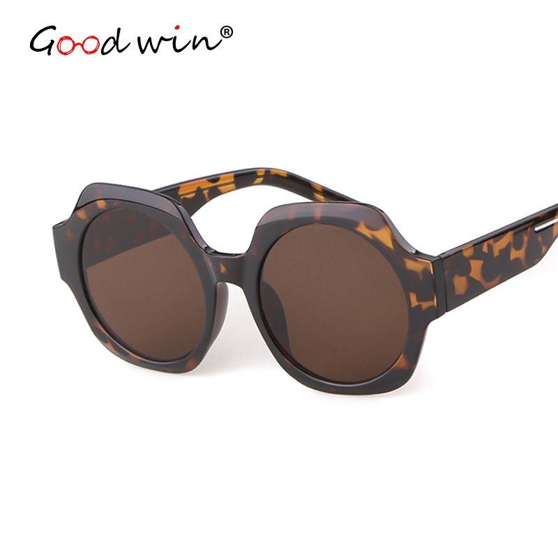 Солнцезащитные очки Хорошая победа Женщины Негабаритные плоские УВ400 Линза Большие Солнцезащитные Очки Рамка Сексуальный леопард для дамских оттенков