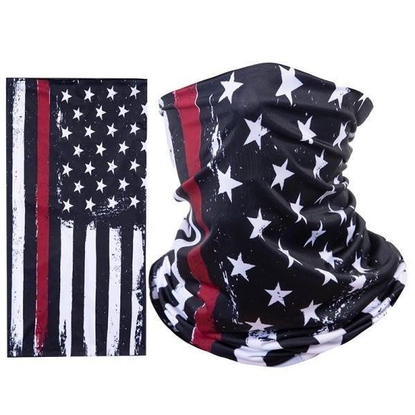 Открытый Dhl Доставка Face Shield Многофункциональный Бесшовные Бандана Американский флаг Ув Защита шеи Gaiter Головные уборы для мужчин Женщины L510fa
