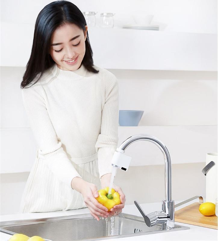 Kızılötesi su, enerji tasarruf cihazı Mutfak banyo Meme dokunun sensörü Zajia İndüksiyon su tasarrufu taşma akıllı musluk