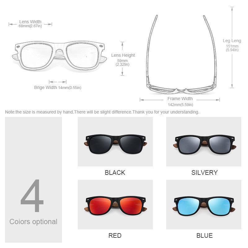 Espejo del sol Gafas de diseño Accessories Gafas de sol de madera de nogal Ravenisa marca de diseño de los hombres por las mujeres Gafas Gafas de Sol Ch01