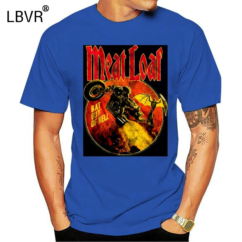CARNE Bat Out Of Hell camiseta Camisas de hombre negras