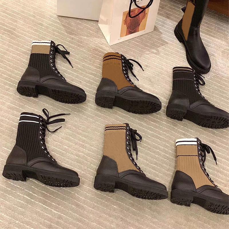 جديد جلد السائق أحذية النساء روكوكو القتالية الأحذية السوداء العجل تمتد النسيج الكاحل مارتن التمهيد الأحذية عدم الانزلاق المطاط وحيد مع مربع