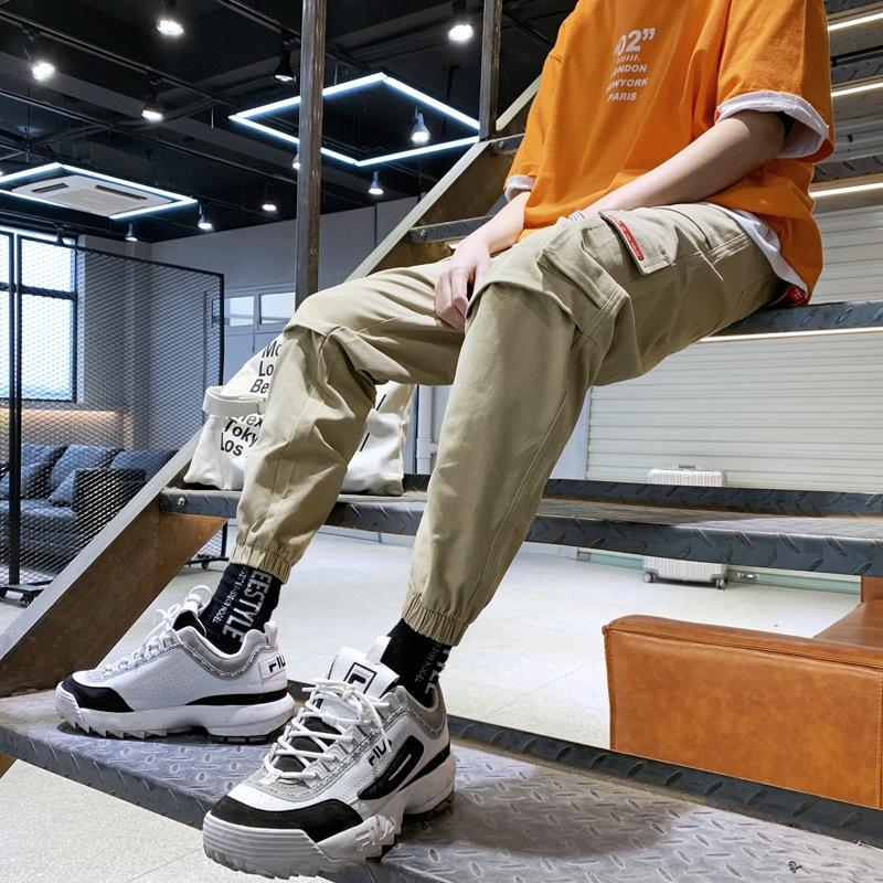 W1wux perdere leggings alla moda di grandi dimensioni Uomo Primavera utensili delle nuove casuale stretta Tuta 2020 pantaloni da uomo pantaloni casual XeC7G