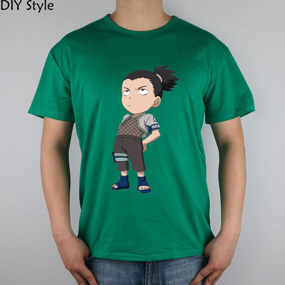 Naruto Nara Shikamaru 3 Tişörtler Kısa Kollu Yüksek Kalite Moda Marka T gömlek erkekler