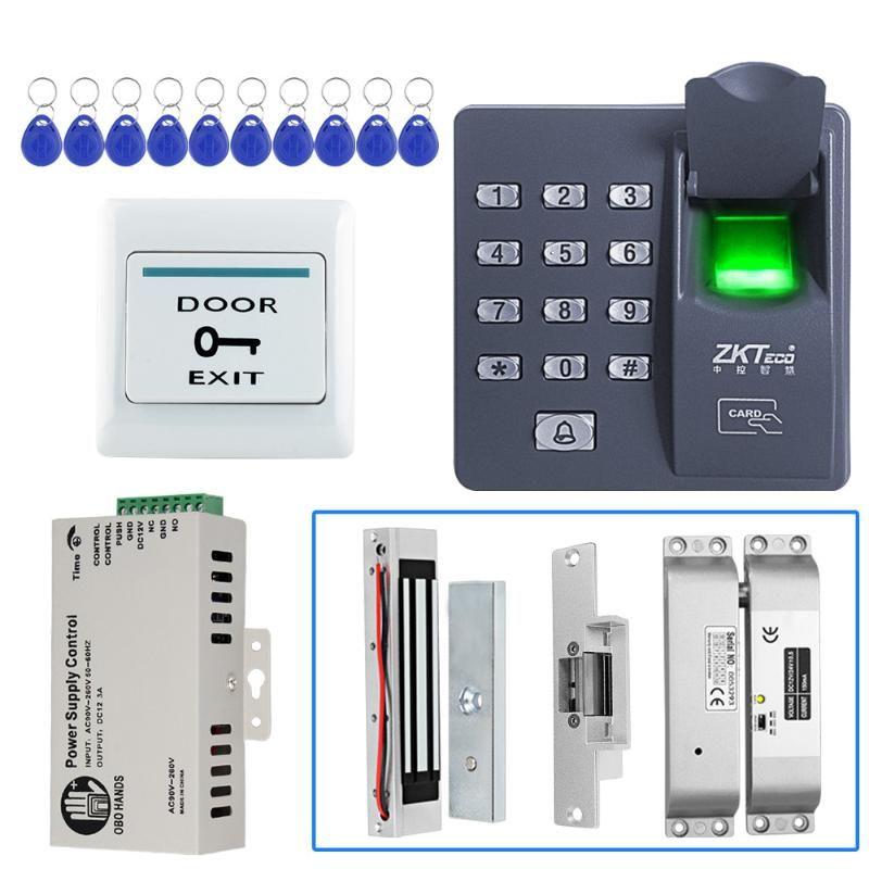125KHz RFID Fingerprint Sistema de Atendimento controle de acesso biométrico Porta Set eletrônico Magnetic Lock-X6