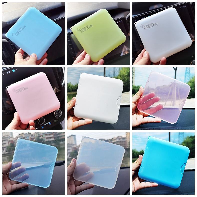12style Gesichtsmaske Aufbewahrungsbox Hülle Tragbare Einweg-Gesichtsmasken Behälter Staubdichte Maske Fall Transparente Kunststoff-Organizer-Bins GGA3737-3