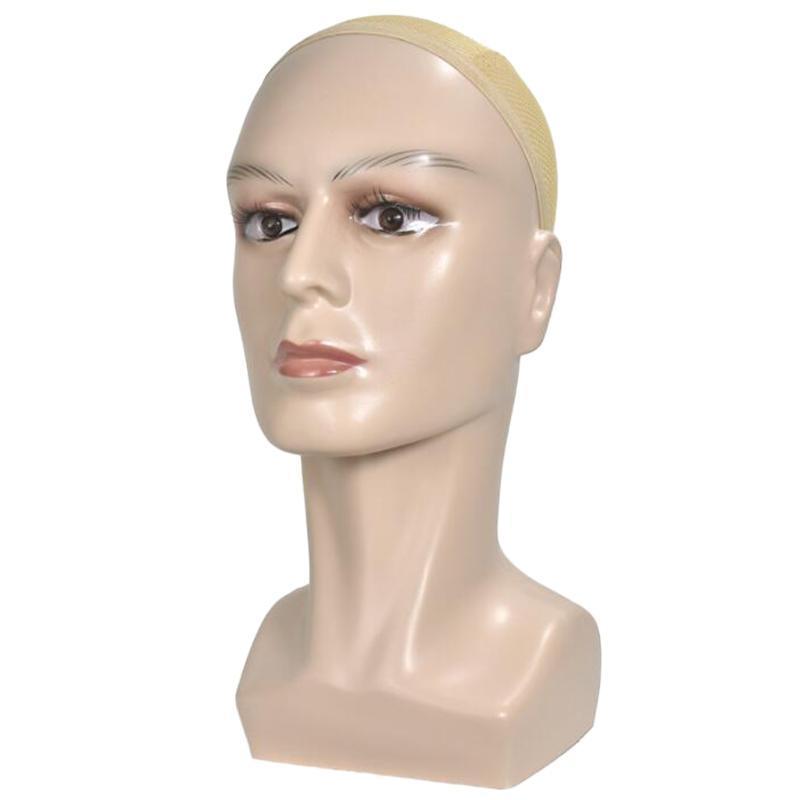 Realistico Mannequin testa a grandezza naturale parrucca visualizzazione cappello sciarpa cremagliera della pelle di colore