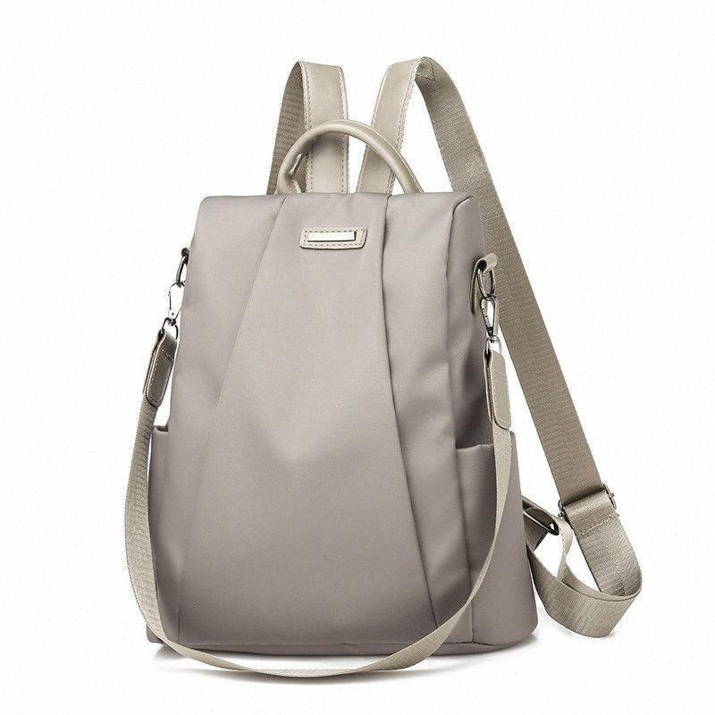 2020 heißen Frauen Rucksack beiläufige Nylon Solid Color-Schule-Beutel Art und Weise abnehmbarer Schultergurt Schultertasche xRIF #