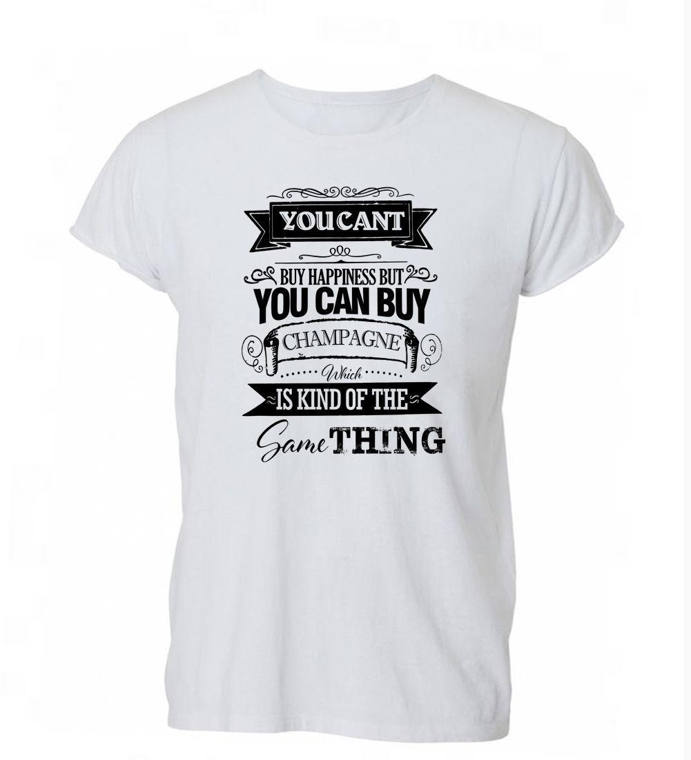 2019 Sommer-Art- und heißen Verkauf-Männer-T-Shirt Sie können nicht kaufen Glück Champagne Lustiges Getränk-T-Shirt T-Shirt der Frauen der Männer Geschenk