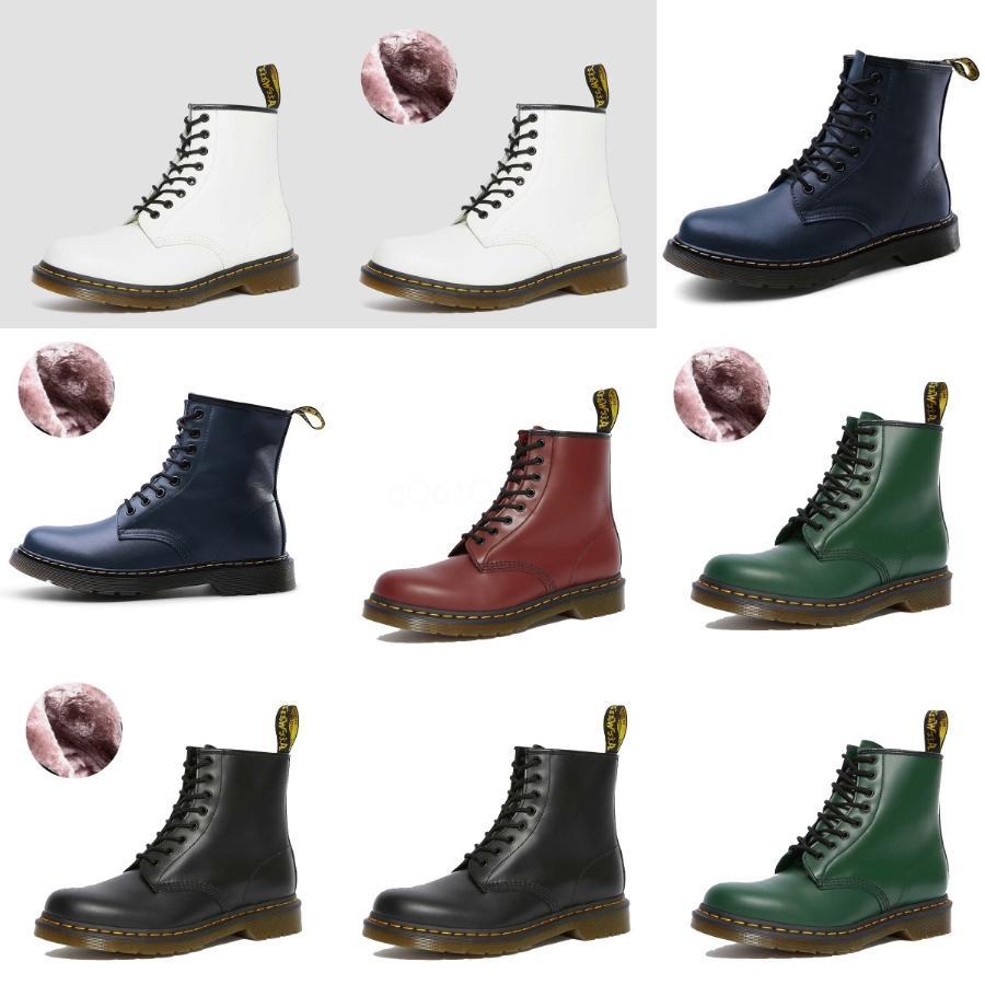 6 cuero del agujero de Trabajo las botas del tobillo del invierno del otoño mujeres de los hombres Botas Negro de motos de nieve al aire libre de los hombres calza # 150