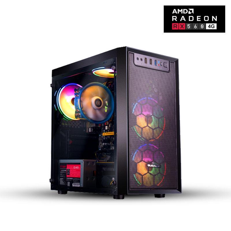الألعاب الكمبيوتر AMD 4 Core 3.7 جيجا هرتز Radeon RX560 4GB بطاقة الرسومات 120GB SSD 1TB HDD 8GB ذاكرة الألعاب الكمبيوتر المكتبي
