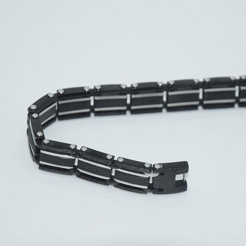 Новые продукты на рынке черного титана стали мужской простой браслет моды качества высокого Браслет p1XsI