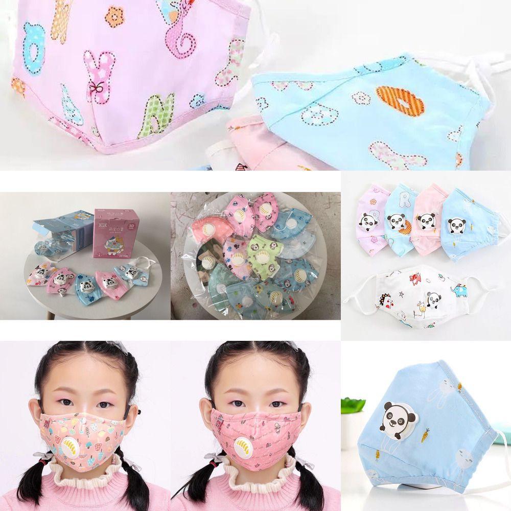 Desenhos animados Layers padrão de filtro 5 Máscaras Cara da panda respiro válvula lavável reutilizável Crianças Poeira Vzob