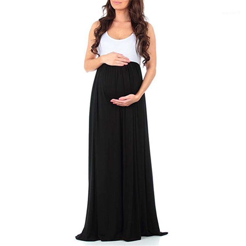 Платье мода рукава Лето Щитовые платья Crew Neck Большой Юбка женской повседневных платьев женщин конструктора Материнство