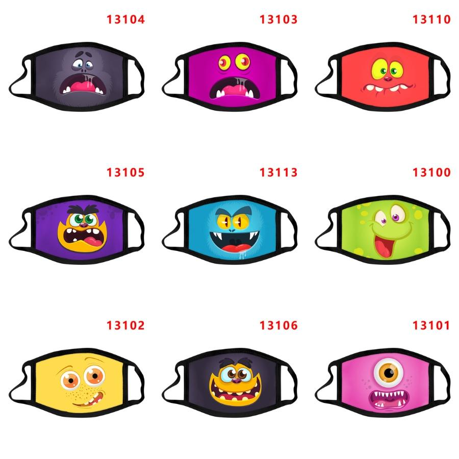 Frete grátis ao ar livre dos desenhos animados Máscara Facial Sports equitação Magia Headband pode colocar Filtro Bib protecção dos desenhos animados Máscara Facial Bandanas dos desenhos animados Mas # 107